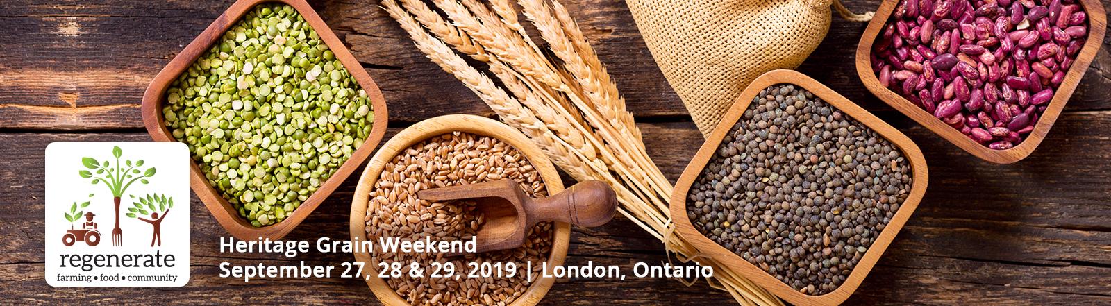 Regenerate Heritage Grain Weekend 2019
